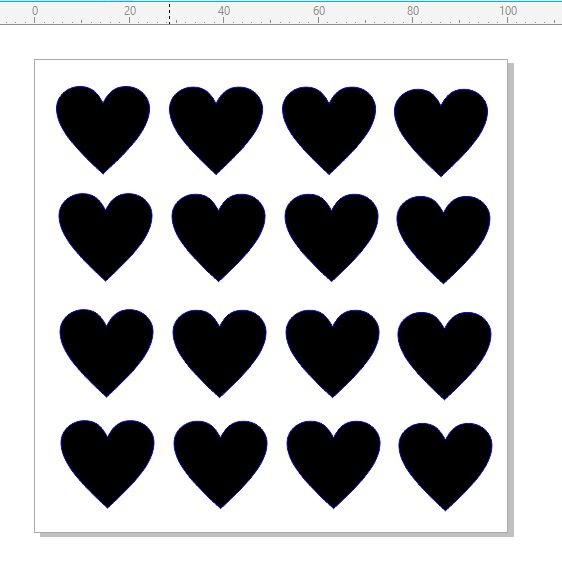 Mini Stencils hearts 100 x 100mm min buy 5 priced as each